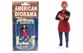 Figures  - Food Truck *Gloria* 2018  - 1:24 - American Diorama - 38442 - AD38442 | The Diecast Company