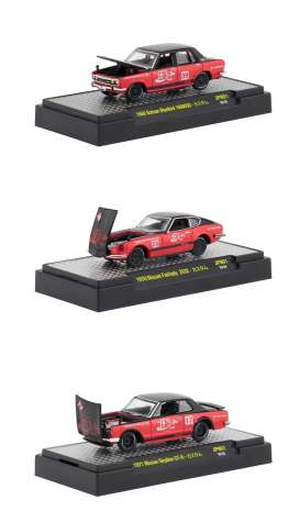 Assortment/ Mix  - red/black - 1:64 - M2 Machines - 52500-JPN01 - M2-52500JPN01 | The Diecast Company