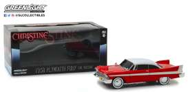 Plymouth  - Fury *Christine* 1958 red/white - 1:24 - GreenLight - 84082 - gl84082 | The Diecast Company