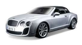 Bentley  - Continental Supersports 2012 silver - 1:18 - Maisto - 11037s - mai11037s | The Diecast Company