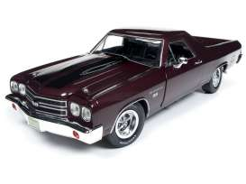 Chevrolet  - EL Camino 1970 black/cherry - 1:18 - Auto World - AMM1161 - AMM1161 | The Diecast Company