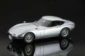 Toyota  - 2000GT silver metallic - 1:32 - Aoshima - 156295 - abk156295 | The Diecast Company