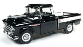 Chevrolet  - Cameo 1957 black/white - 1:18 - Auto World - AMM1145 - AMM1145 | The Diecast Company