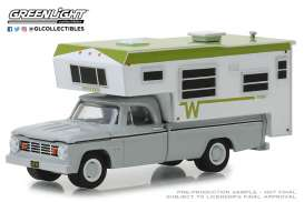 Dodge  - D-100 1966 white/green - 1:64 - GreenLight - 30022 - gl30022 | The Diecast Company