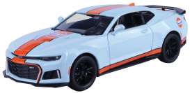 Chevrolet  - Camaro 2017 light blue/orange - 1:24 - Motor Max - 79656 - mmax79656 | The Diecast Company