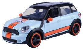Mini Cooper - S Countryman light blue/orange - 1:24 - Motor Max - 79653 - mmax79653 | The Diecast Company
