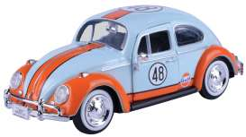 Volkswagen  - Beetle 1966 light blue/orange - 1:24 - Motor Max - 79655 - mmax79655 | The Diecast Company