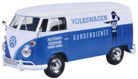 Volkswagen  - Type 2 blue/white - 1:24 - Motor Max - 79573 - mmax79573 | The Diecast Company