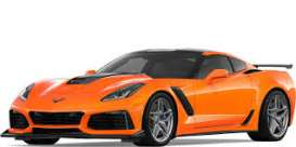 Corvette  - ZR1 2019 orange - 1:24 - Motor Max - 79356o - mmax79356o | The Diecast Company