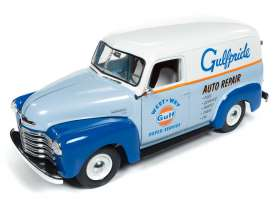 Chevrolet  - Panel Delivery 1948 blue/orange/white - 1:18 - Auto World - AW250 - AW250 | The Diecast Company