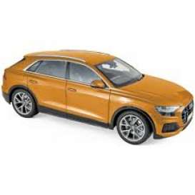 Audi  - A8  2018 orange metallic - 1:18 - Norev - 188371 - nor188371 | The Diecast Company