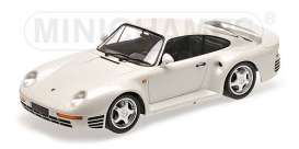 Porsche  - 1987 white - 1:18 - Minichamps - 155066206 - mc155066206 | The Diecast Company