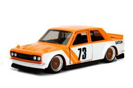 Datsun  - 510 1973 orange/white - 1:32 - Jada Toys - 98572o - jada98572o | The Diecast Company