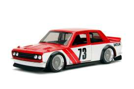Datsun  - 510 1973 red/white - 1:32 - Jada Toys - 98572r - jada98572r | The Diecast Company
