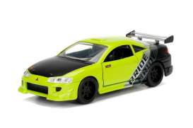 Mitsubishi  - Eclipse 1995 yellow/black/silver - 1:32 - Jada Toys - 99126y - jada99126y | The Diecast Company