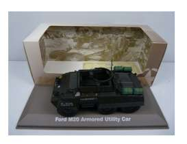 Military Vehicles  - Ford M20 1940 green/black - 1:43 - Magazine Models - MILBL06 - magMILBL06 | The Diecast Company