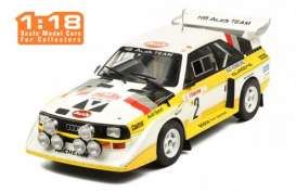 Audi  - Sport Quattro 1986 yellow/white - 1:18 - IXO Models - rmc025A - ixrmc025A | The Diecast Company