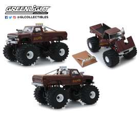 Ford  - F-250 Monster Truck 1979 brown - 1:18 - GreenLight - 13540 - gl13540 | The Diecast Company