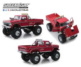 Ford  - F-250 Monster Truck 1979 red - 1:18 - GreenLight - 13542 - gl13542 | The Diecast Company