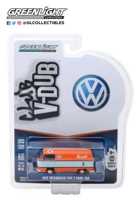 Volkswagen  - Type 2 1975 orange/blue - 1:64 - GreenLight - 29940E - gl29940E | The Diecast Company