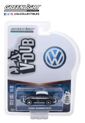 Volkswagen  - Beetle 1968 black/white - 1:64 - GreenLight - 29940F - gl29940F | The Diecast Company