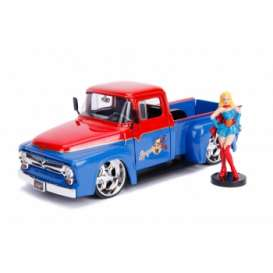 Ford  - F-100 *Supergirl* 1952 red/blue - 1:24 - Jada Toys - 30454 - jada30454 | The Diecast Company