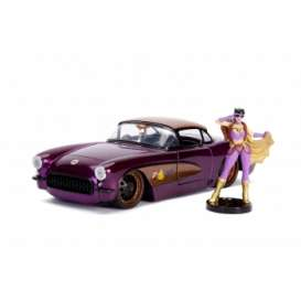 Chevrolet  - Corvette *Batgirl* 1957 purple - 1:24 - Jada Toys - 30457 - jada30457 | The Diecast Company