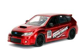 Subaru  - Impreza 2012 candy red/black - 1:24 - Jada Toys - 30389r - jada30389r | The Diecast Company