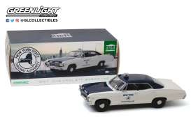Chevrolet  - Biscayne 1967 white/blue - 1:18 - GreenLight - 19054 - gl19054 | The Diecast Company