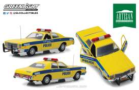 Plymouth  - Fury 1977 yellow/blue - 1:18 - GreenLight - 19056 - gl19056 | The Diecast Company