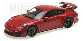 Porsche  - 911 Turbo S 2017 red - 1:18 - Minichamps - 110067020 - mc110067020 | The Diecast Company