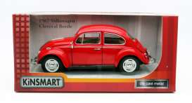 Volkswagen  - Beetle 1967 red - 1:24 - Kinsmart - 7002W - KT7002Wr | The Diecast Company