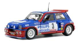 Renault  - 5  Maxi Turbo 1985 blue/red - 1:18 - Solido - 1850027 - soli1850027 | The Diecast Company