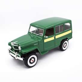 Jeep Willys - green - 1:18 - Lucky Diecast - 92858gn - ldc92858gn | The Diecast Company