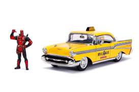 Deadpool  - Taxi 2016 yellow - 1:24 - Jada Toys - 30290 - jada30290 | The Diecast Company