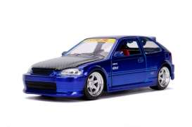 Honda  - Civic EK Type R 1997 candy blue - 1:24 - Jada Toys - 30929 - jada30929b | The Diecast Company
