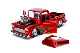 Chevrolet  - Stepside 1955 red/flames - 1:24 - Jada Toys - 30713 - jada30713r | The Diecast Company