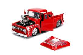 Ford  - F-100 1956 red/flames - 1:24 - Jada Toys - 30715 - jada30715r | The Diecast Company