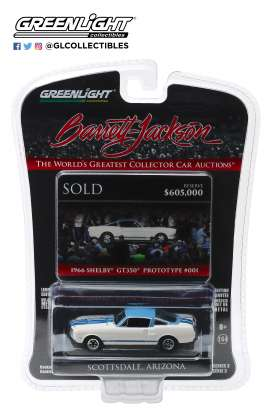 Shelby  - GT350 1966 white/blue - 1:64 - GreenLight - 37160A - gl37160A | The Diecast Company