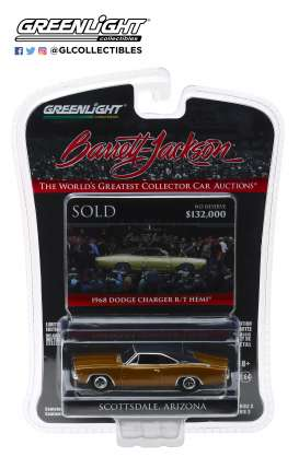 Dodge  - HEMI Charger 1968 brown - 1:64 - GreenLight - 37160C - gl37160C | The Diecast Company