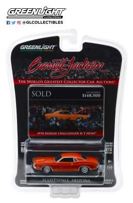 Dodge  - HEMI Challenger 1970 orange-red - 1:64 - GreenLight - 37160E - gl37160E | The Diecast Company