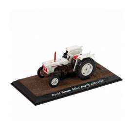 Tractor  - David Brown Selectamatic 880 1969 white/black - 1:32 - Magazine Models - TR7517029 - magTR7517029 | The Diecast Company