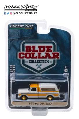 Ford  - F-100 1977 yellow/white - 1:64 - GreenLight - 35120D - gl35120D | The Diecast Company