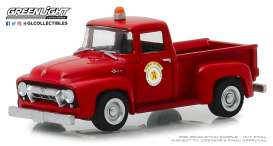 Ford  - F-100 1954 red - 1:64 - GreenLight - 30031 - gl30031 | The Diecast Company