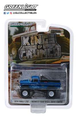 Ford  - F-250 Monster Truck 1974 blue - 1:64 - GreenLight - 49030A - gl49030A | The Diecast Company