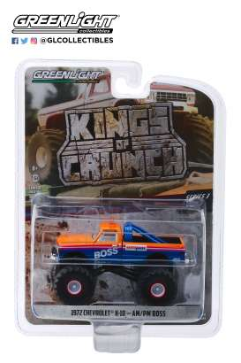 Chevrolet  - K-10 1972 blue/orange/white - 1:64 - GreenLight - 49030B - gl49030B | The Diecast Company