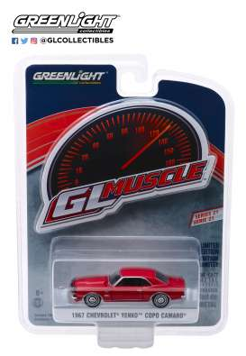 Chevrolet  - Yenko Camaro 1967 red - 1:64 - GreenLight - 13230A - gl13230A | The Diecast Company