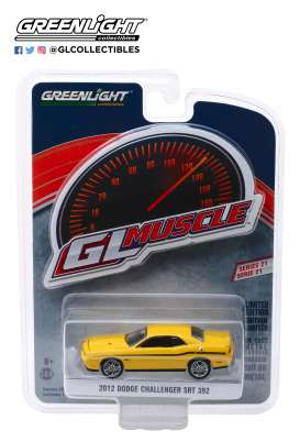 Dodge  - Challenger 2012 yellow - 1:64 - GreenLight - 13230D - gl13230D | The Diecast Company
