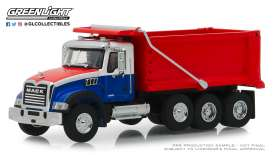 Mack  - Granite Dump 2019 red/white/blue - 1:64 - GreenLight - 45060B - gl45060B | The Diecast Company