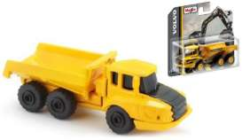 Volvo  - A25G Hauler black/yellow - 1:64 - Maisto - 15394-02 - mai15394-02 | The Diecast Company